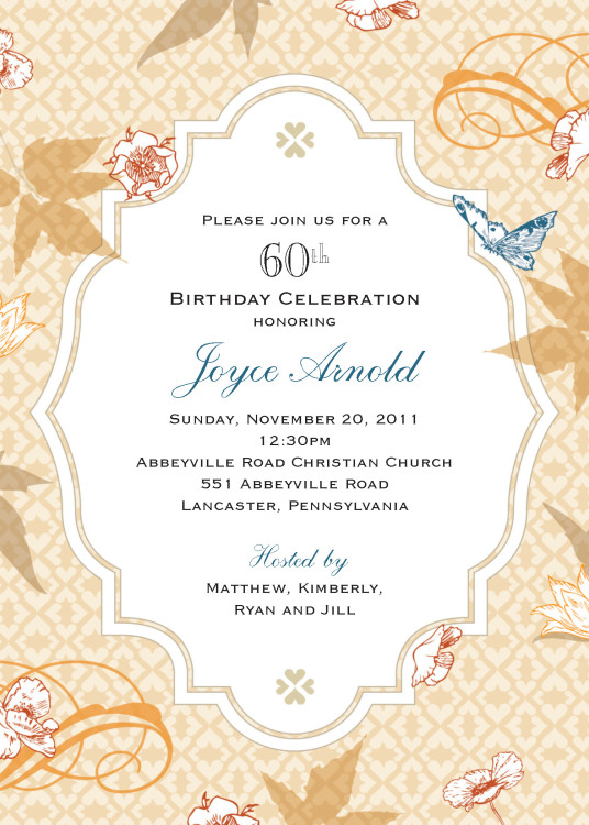 Joyce Birthday Invitation