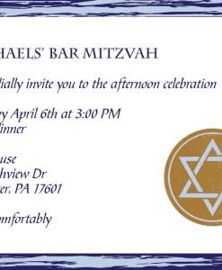 Blue Bar Mitzvah Invitation Suite | bar mitzvah, star of david,