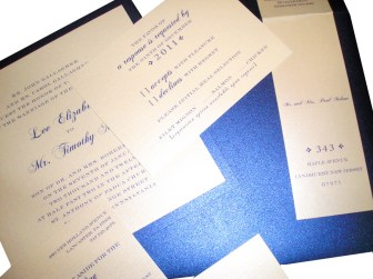 Royal Blue Wedding Invitation Suite | royal blue, cream, metallic paper | wedding colors