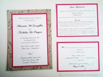 Pink Invite Set