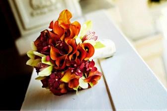 fall autumn orange wedding bouquet