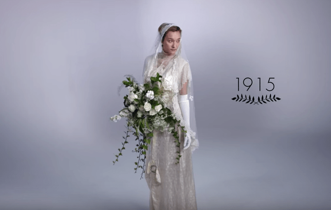 wedding dresses 100 years 1915