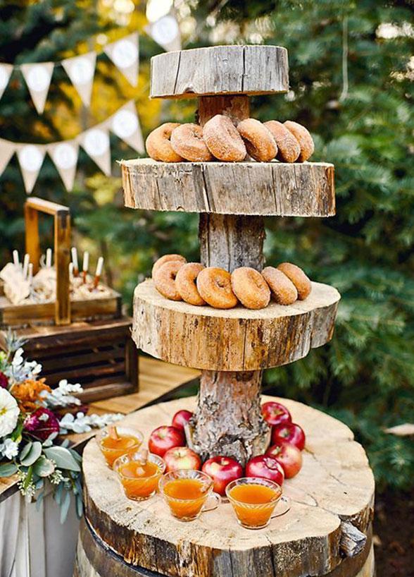 Wedding ideas | apple cider donuts