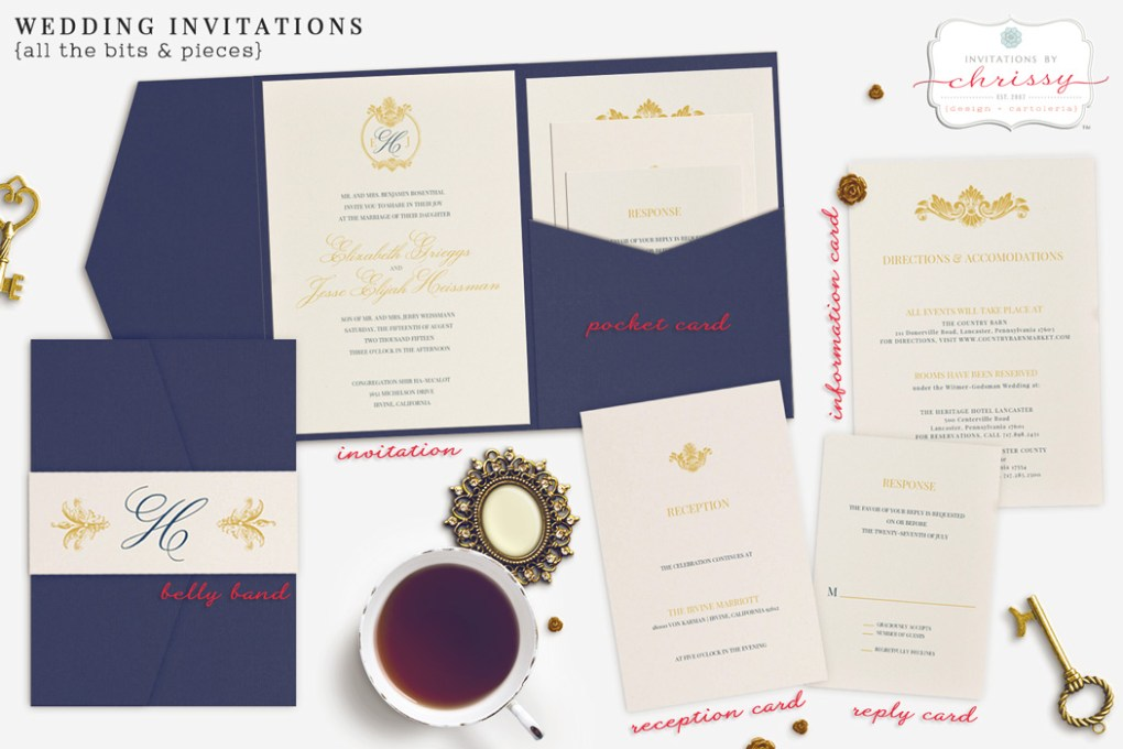 wedding invitations bits and pieces