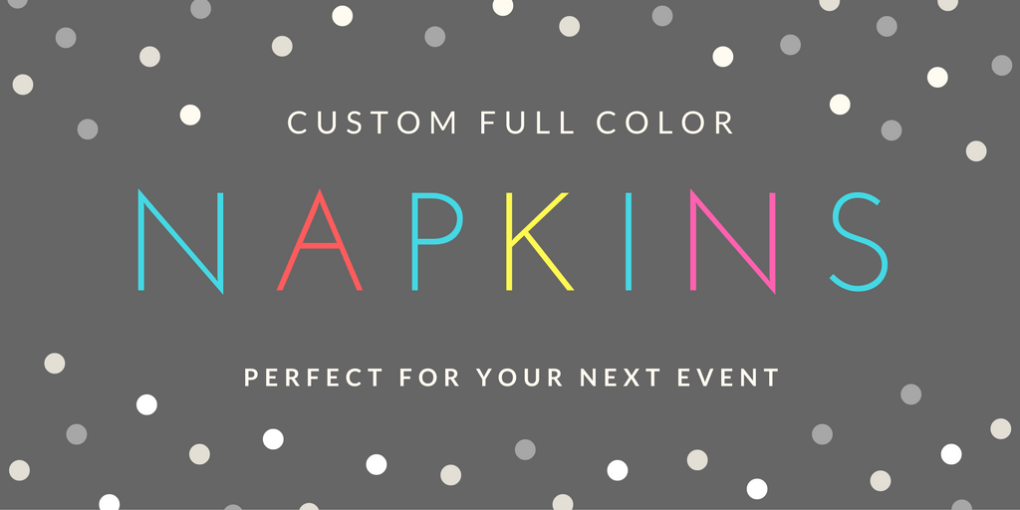 custom full color printed napkins for events weddings beverage napkins luncheon nampkins
