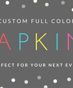 custom full color printed napkins for events weddings beverage napkins luncheon nampkins