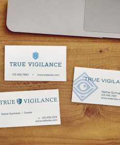 business card designs for security company