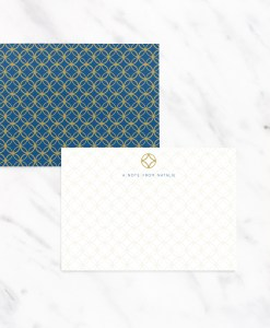 navy blue and gold notecards note cards