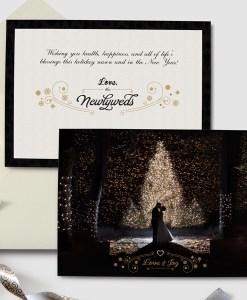 newlywed christmas holiday new year greeting card photo card