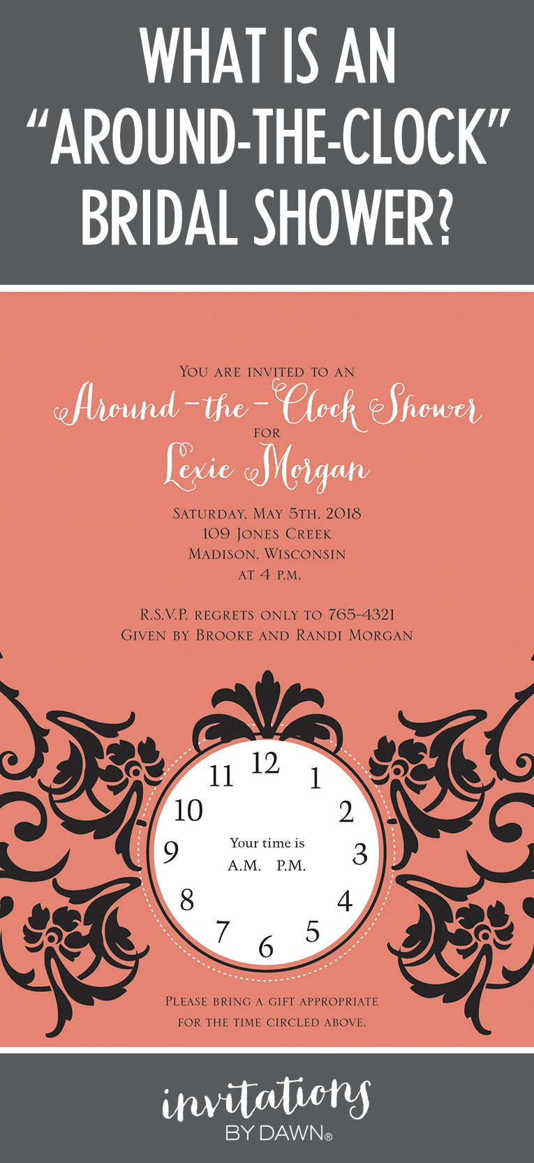 Bride And Groom Shower Invitations