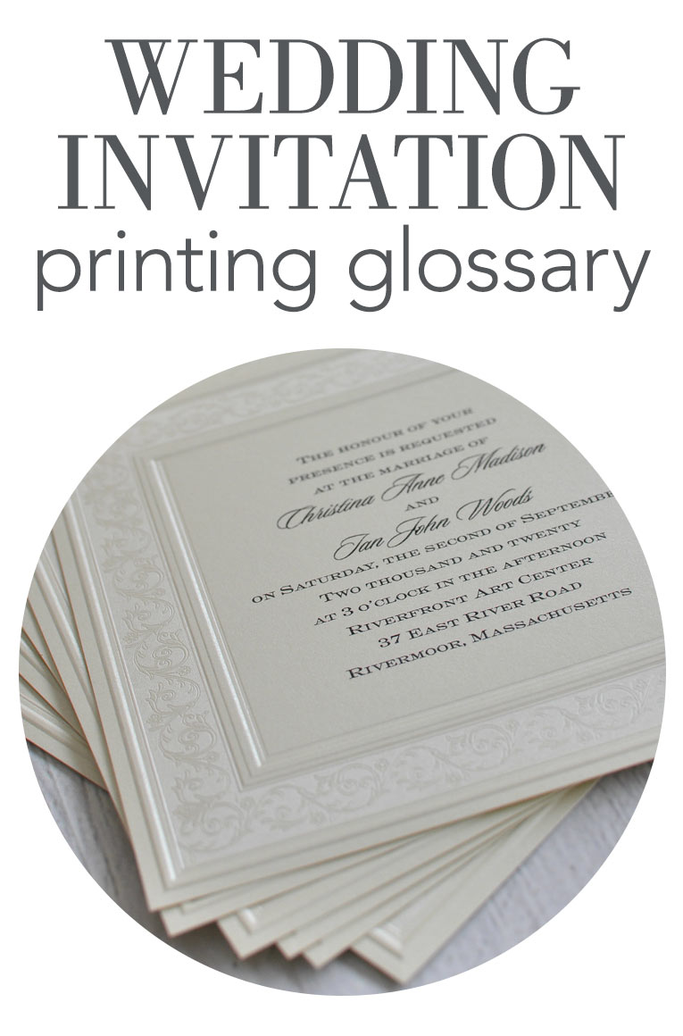 The Different Styles of Wedding Invitation Printing