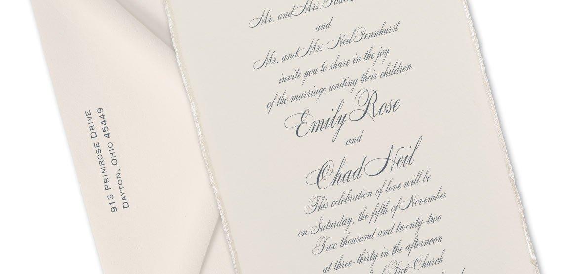 Wording Formal Wedding Invitations