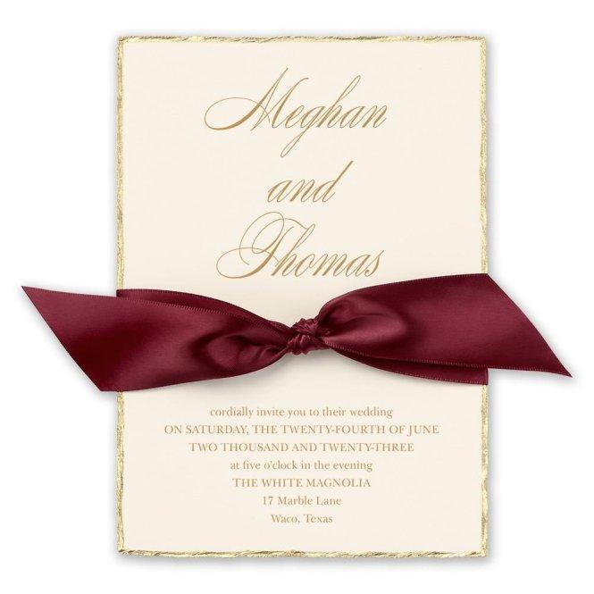 Jeweled Deckle Invitation Invitations