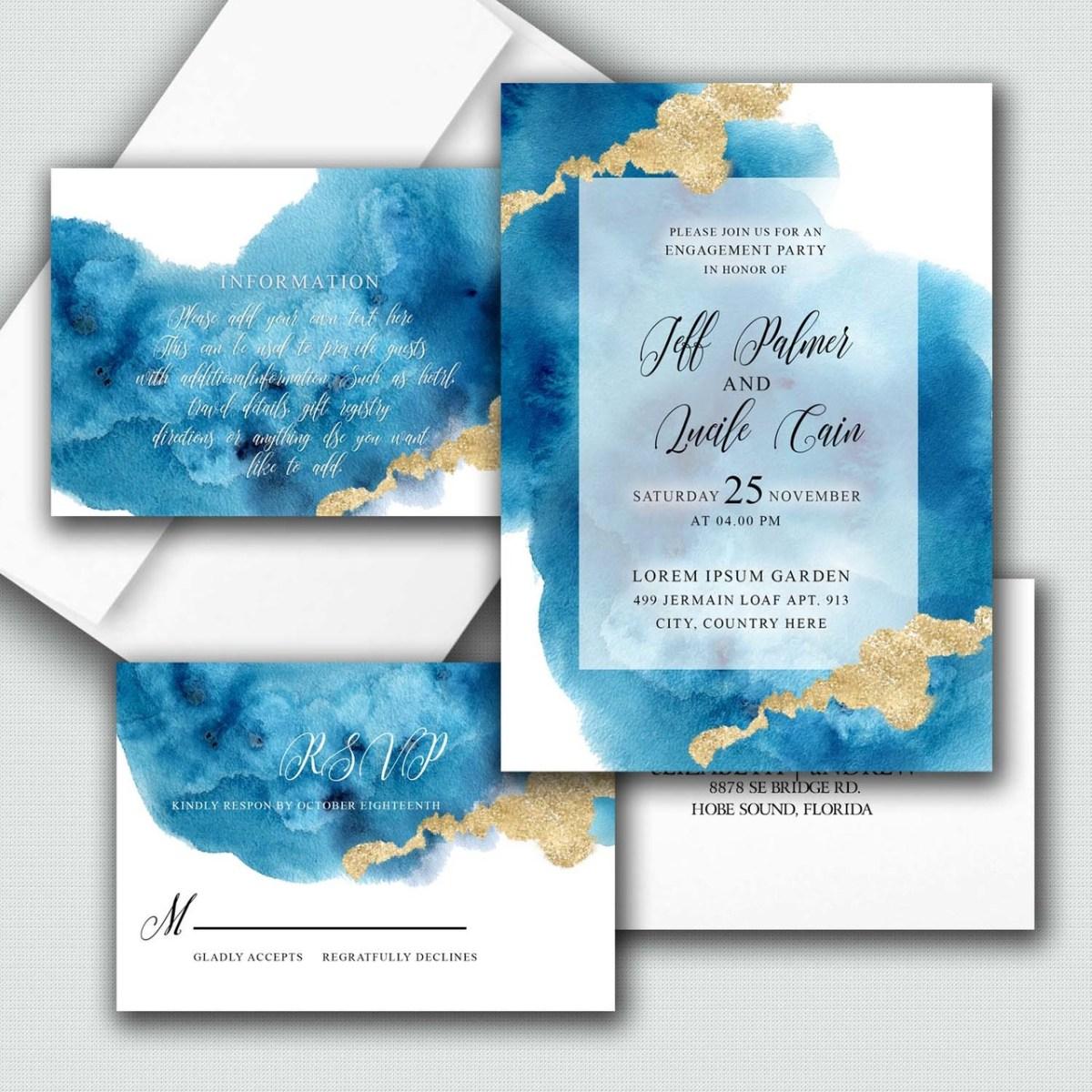 cheap wedding invitation suite