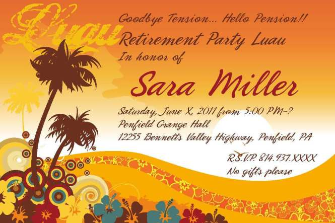 Free Printable Retirement Party Invitations gangcraftnet – Free Retirement Party Invitations