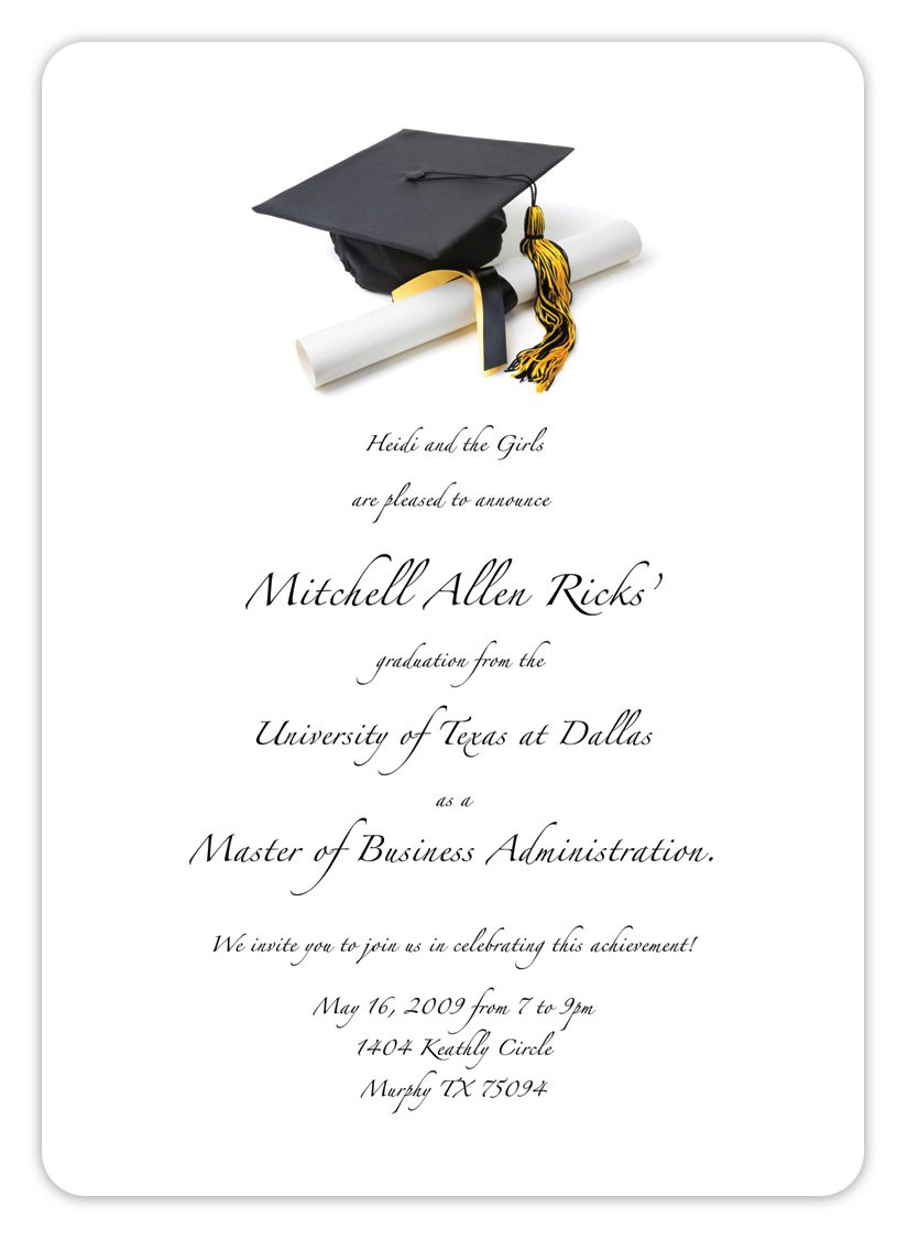graduations announcements