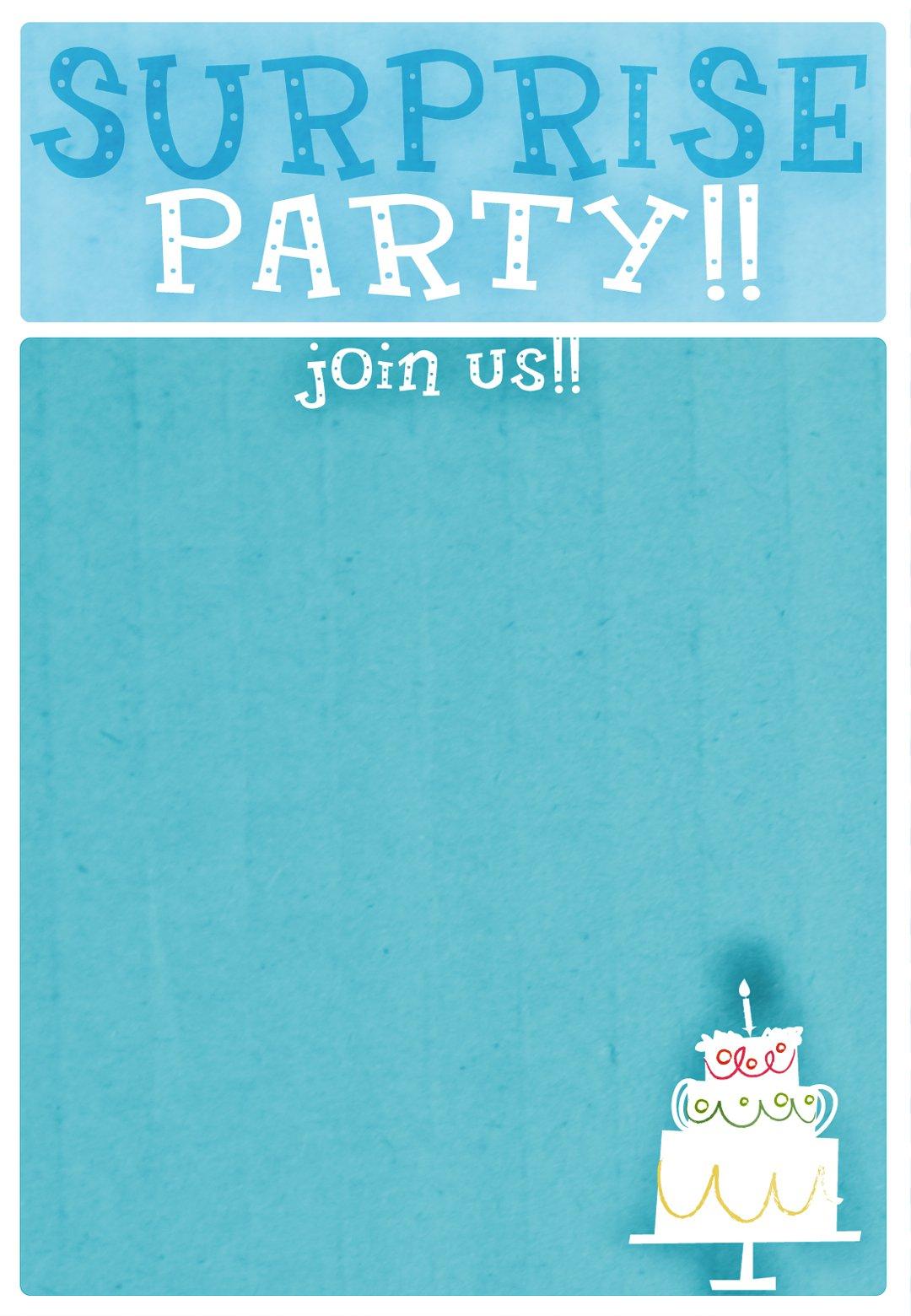 Free Printable Surprise 18th Birthday Invitations