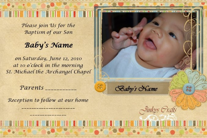 Sample of invitation card for christening and birthday sample of invitation card for christening and birthday image letter baptism collections stopboris Image collections