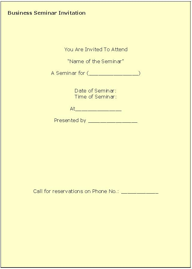 seminar templates free