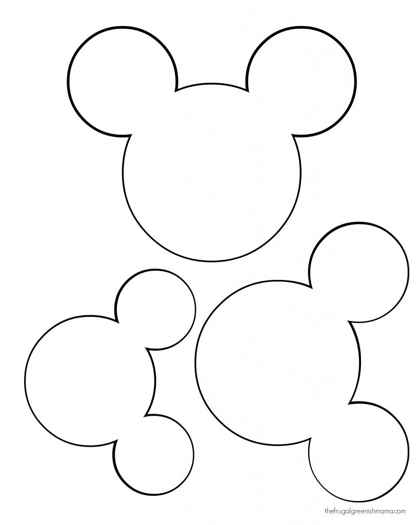 Mickey Mouse Cut Out Templates