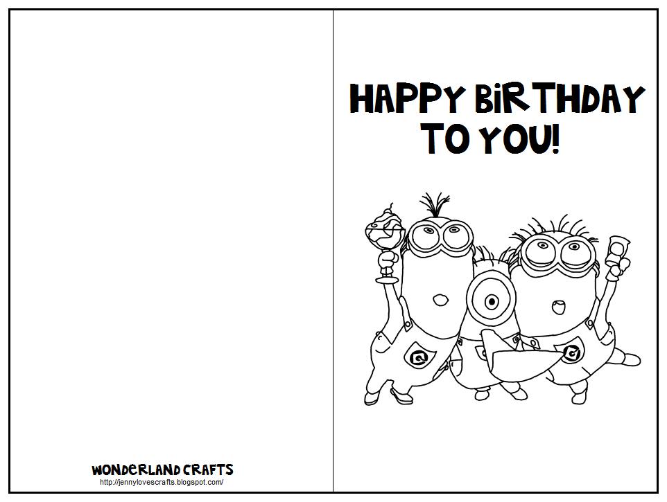 Printable Folding Birthday Cards