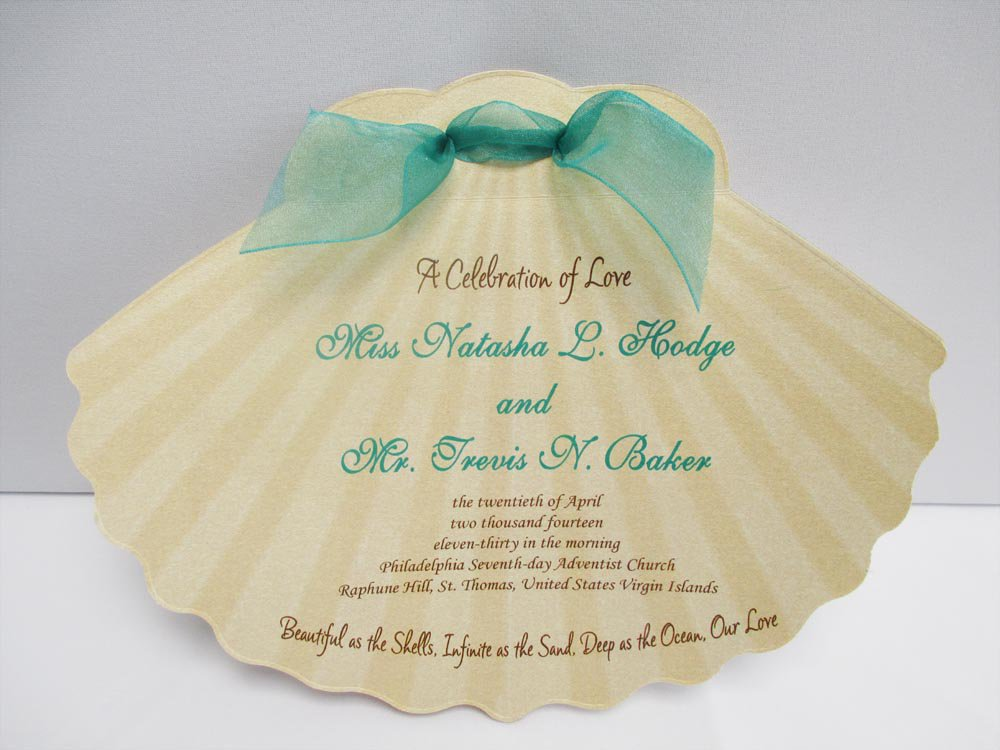 Seashell Shaped Invitations