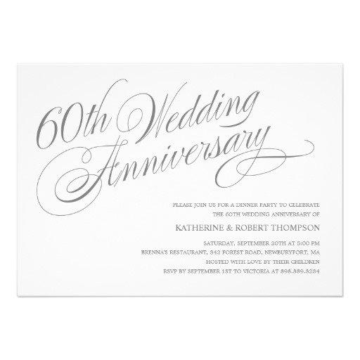 60th Wedding Anniversary Invitation Templates