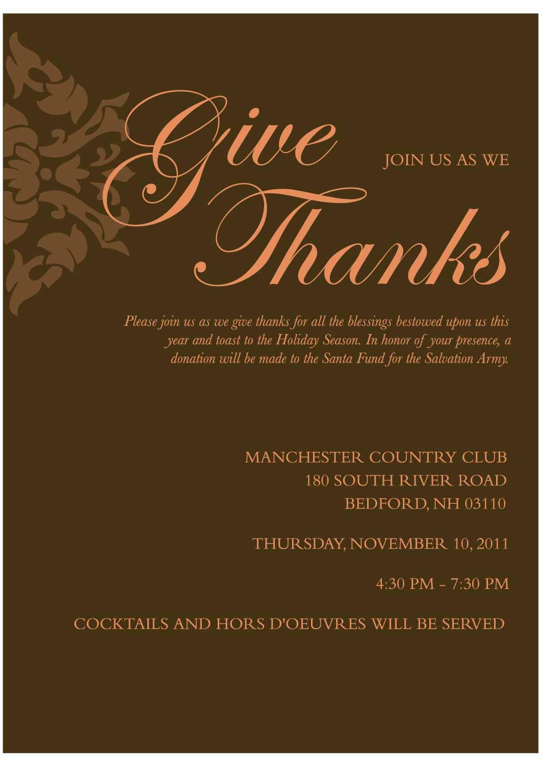 Thanksgiving Invitation Company