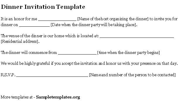 Invitation for dinner email sample etamemibawa invitation stopboris Image collections