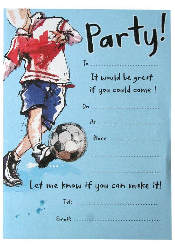 Football Birthday Party Invitations
