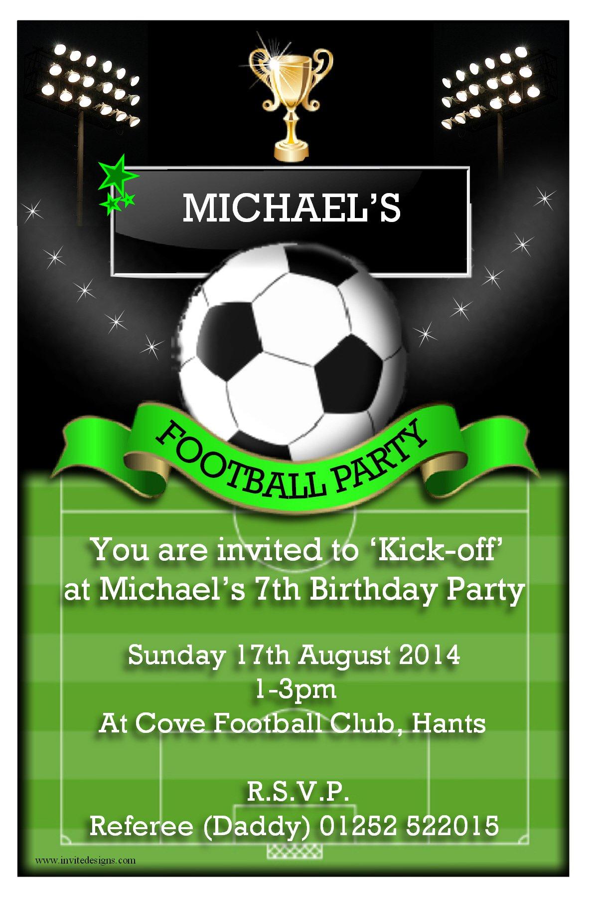 football invite template