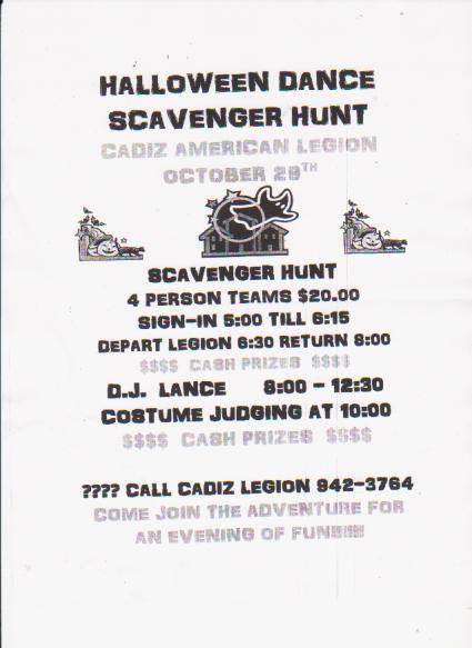 Halloween Scavenger Hunt Invitation