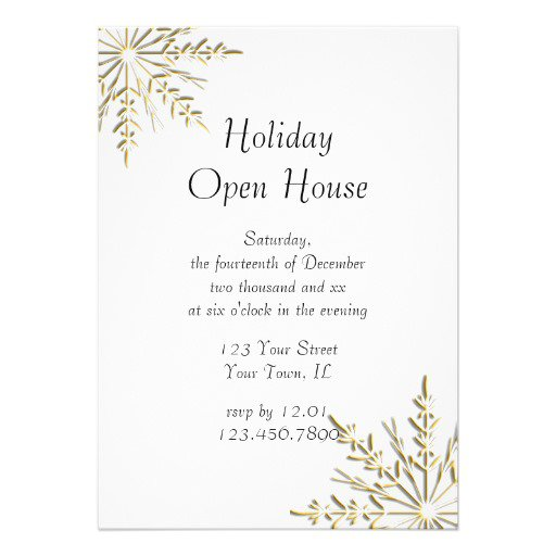 Business Open House Invitations