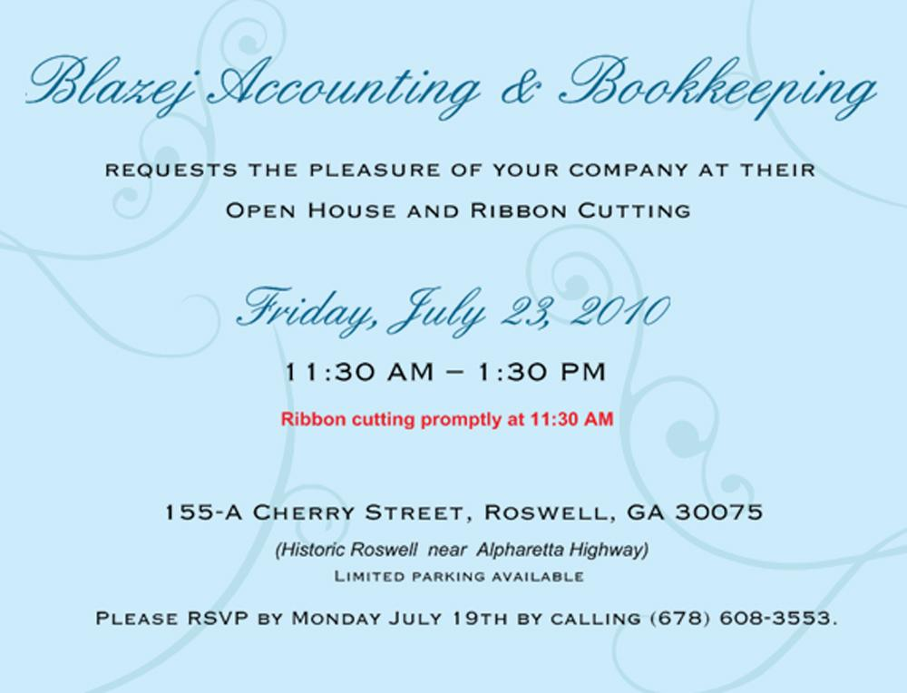 Business Grand Opening Invitations Wording