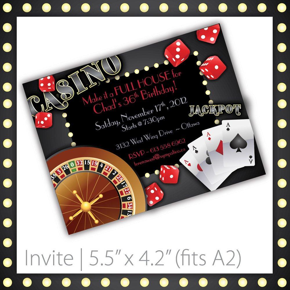 free casino birthday invitation templates