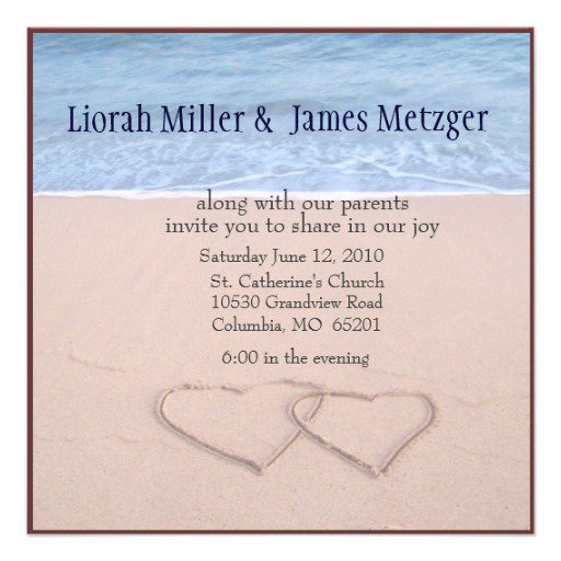 Beach Themed Couples Shower Invitations