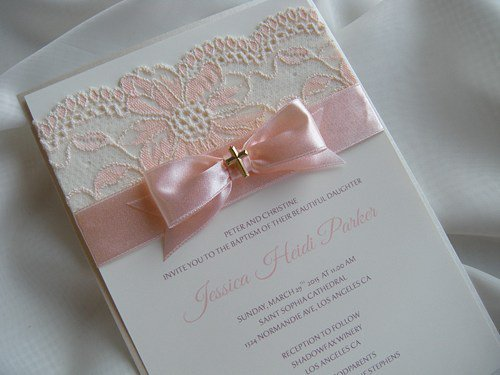 Handmade Communion Invitations