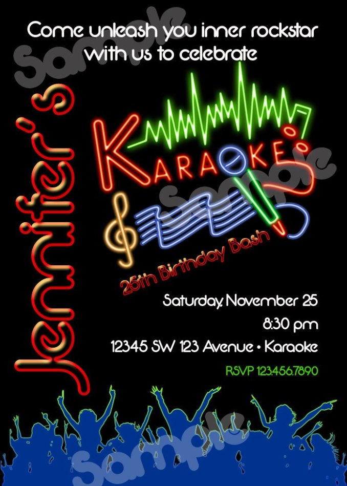 Karaoke party invitation sample newsinvitation 700 x 980 560 784 karaoke party invitation sample stopboris