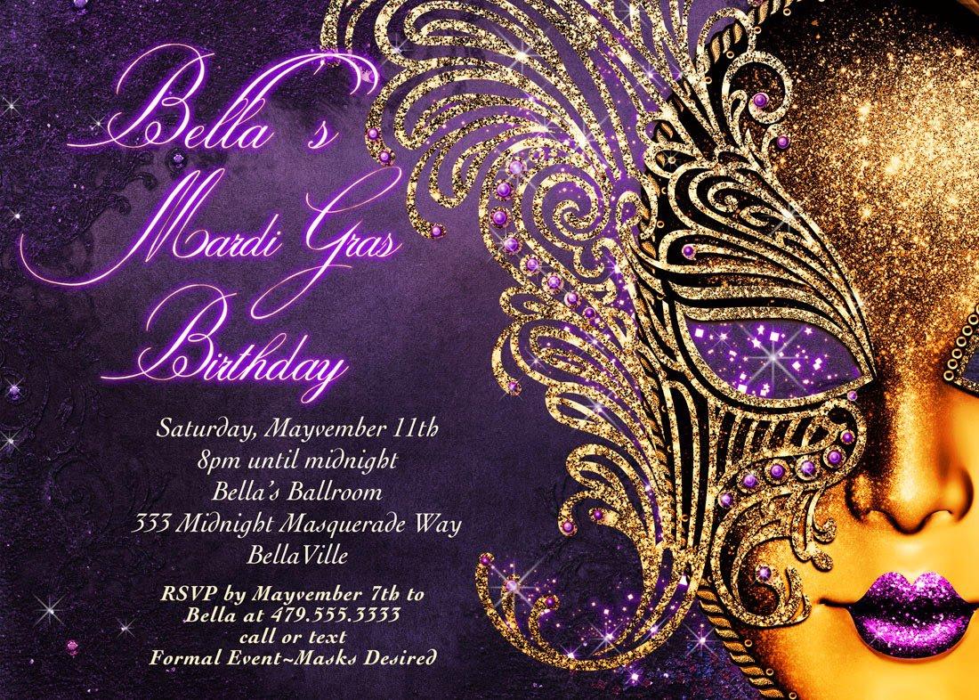 Sweet 16 Masquerade Invitations