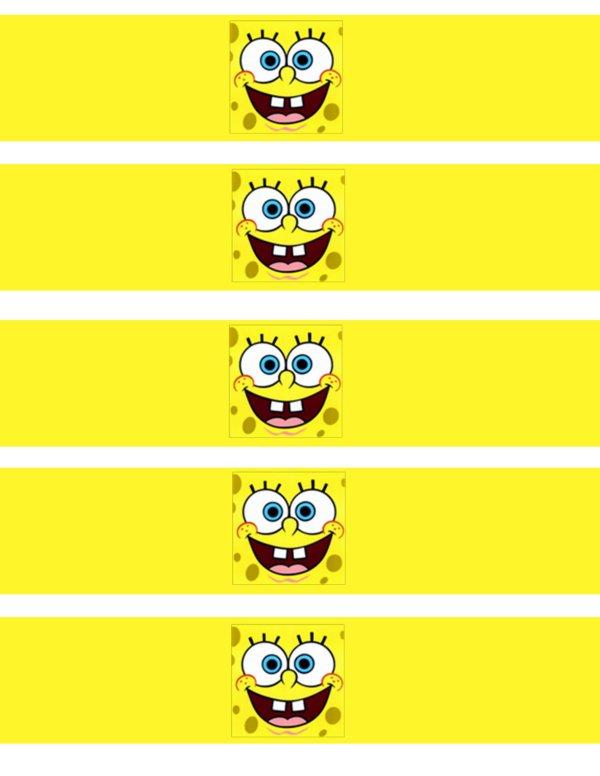 Free Printable Spongebob Water Bottle Labels
