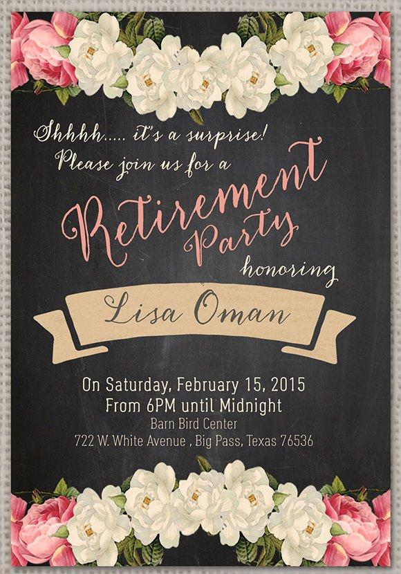 surprise retirement party invitation wording