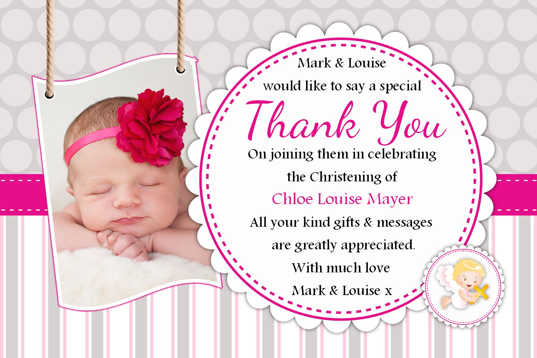 Personalised Baptism Cards