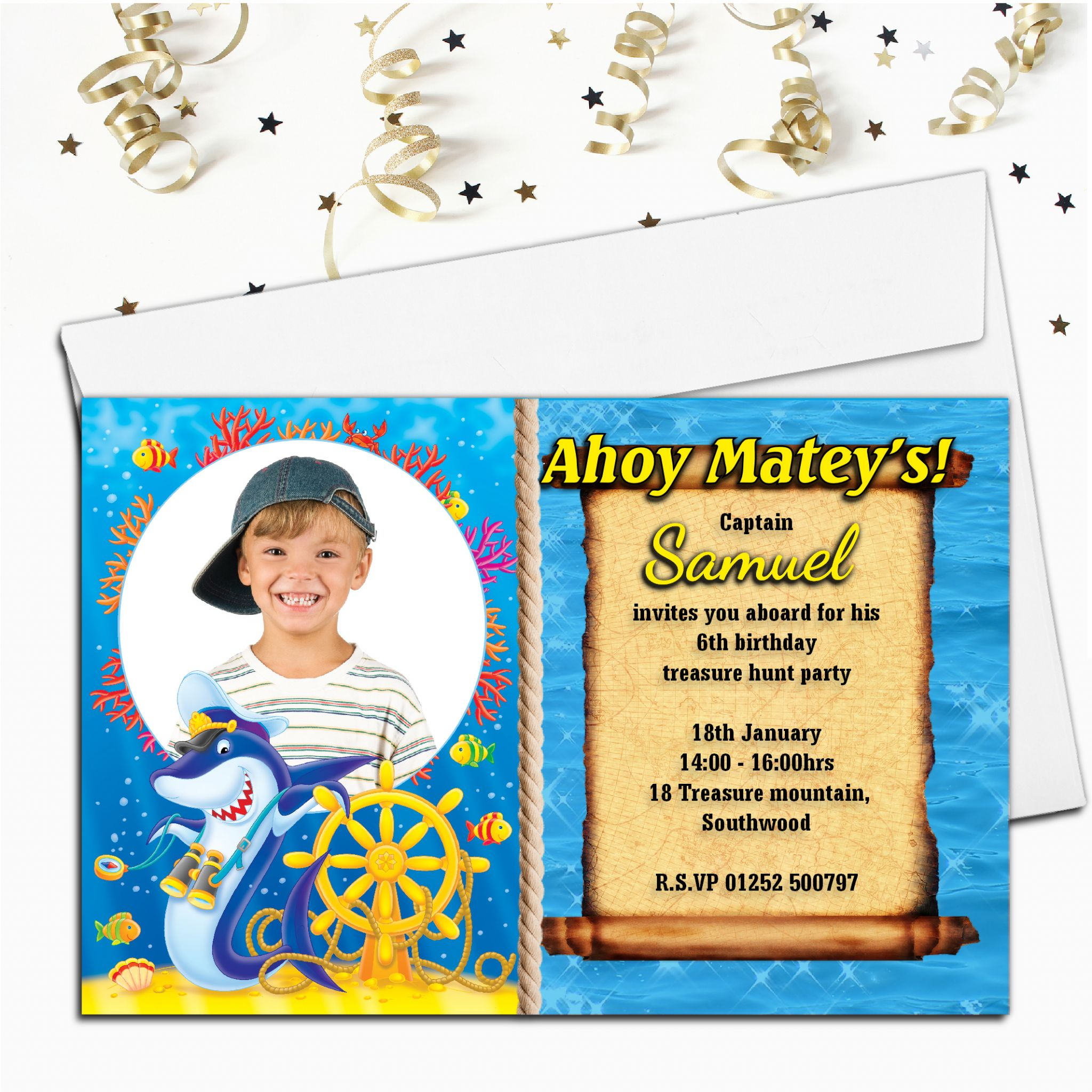 celebrations occasions 10 personalised kids pirate birthday party invitations new designs home furniture diy itkart org