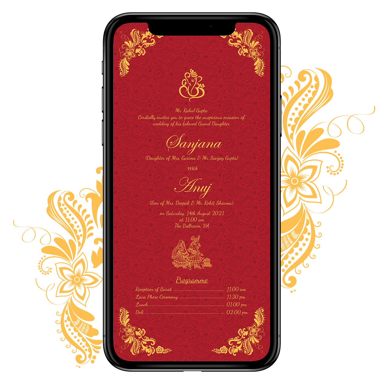 Invites Cafe Hindu Wedding Invitation 001