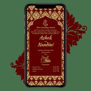Invites Cafe Hindu Wedding Invitation 007