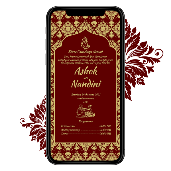 Invites Cafe Hindu Wedding Invitation 007