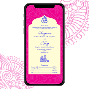 Invites Cafe Hindu Wedding Invitation 008