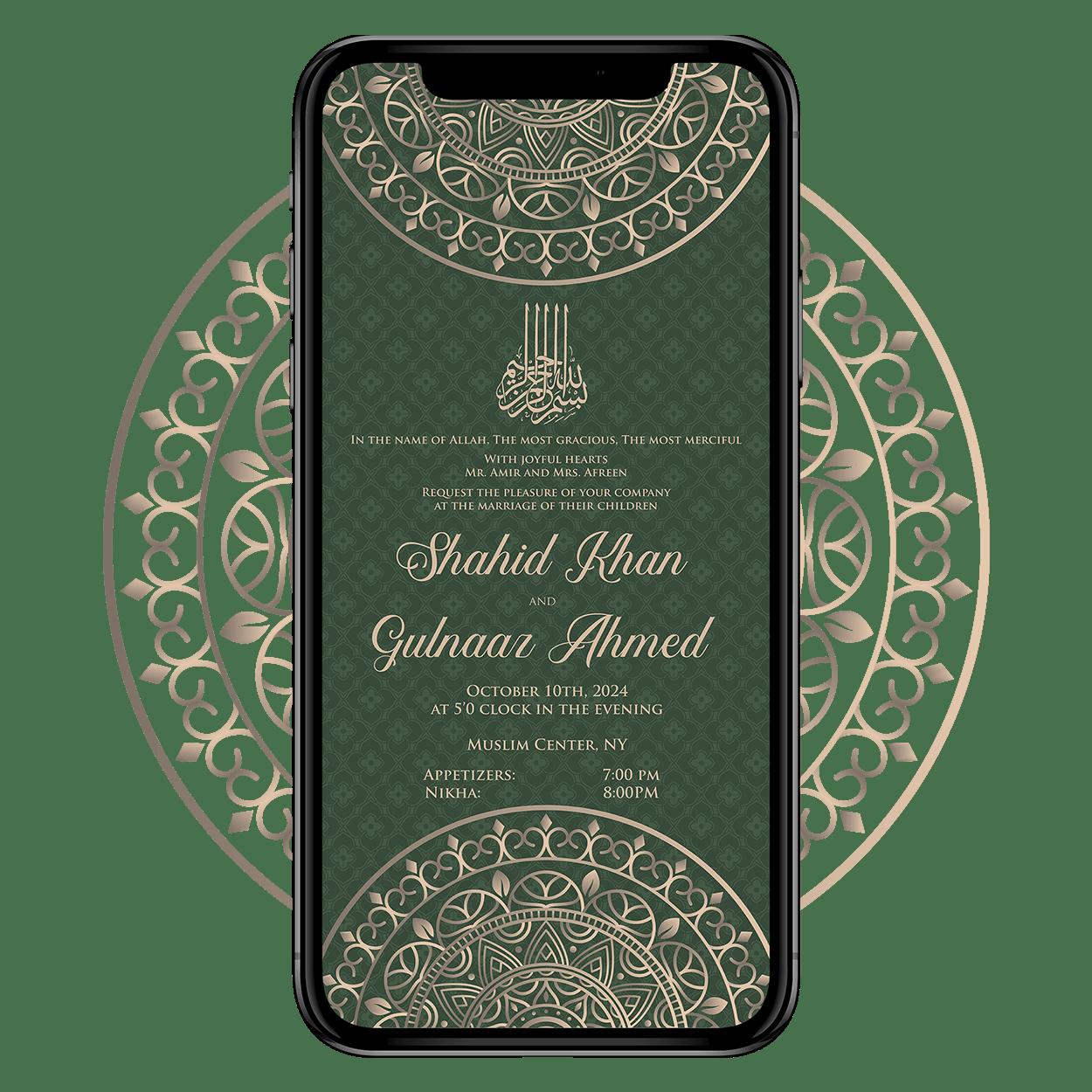 Invites Cafe Muslim Wedding Invitation 003