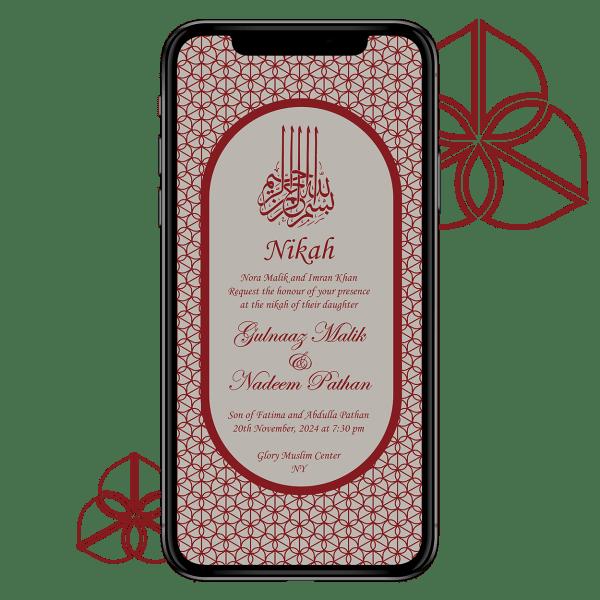 Invites Cafe Muslim Wedding Invitation 005
