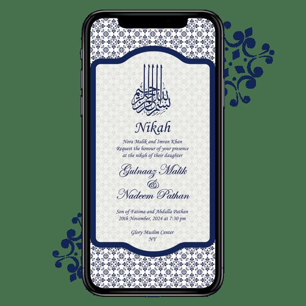 Invites Cafe Muslim Wedding Invitation 008